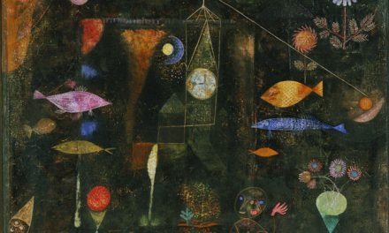 Klee's perception of the world as some kind of a model, an illusion of something behind it