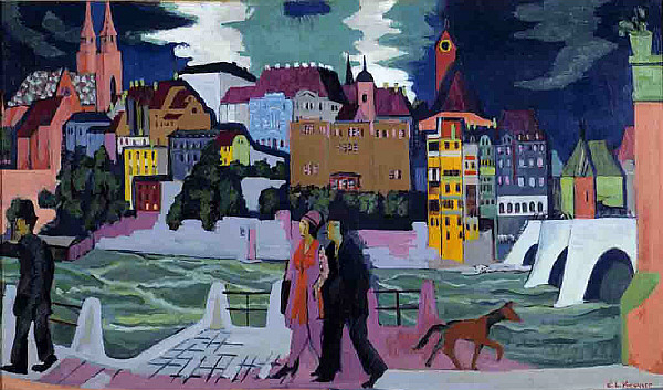 """""""The bridge"""" connecting the past with present, society with ideologies of the expressionist artist Kirchner"""