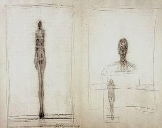 Giacometti's transparent constructions, the figures that evoke the core, brought forward by the external events and internal power