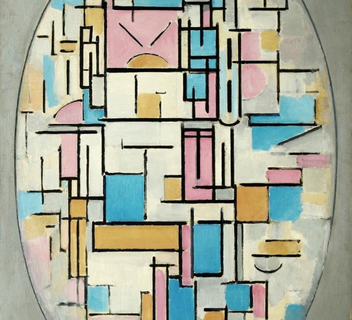 Achieving balance by the use of opposition between elements rather than symmetry in Mondrian and Jung